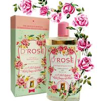 薔薇のエッセンシャルオイルが混じったローズウォーターD'Roseローズウォーター
