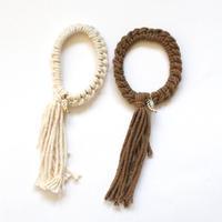 Knit hair tie