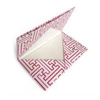 「秋名バラ」月桃和紙/赤  カードケース (月桃紙カード5枚入)