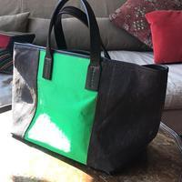 SHIB 酒袋鞄   S-33 イカット + 正絹西陣織帯 / IKAT OF JAVA+ PURE SILK KIMONO OBI
