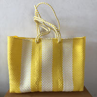 L size Mexican Plastic Tote bag メキシカントートバッグ ロングハンドル
