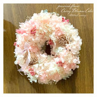 桜ピンクのふんわりリース