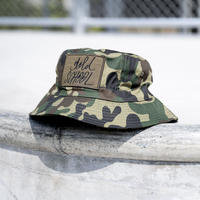 gold school camo hat