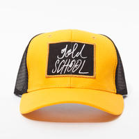gold school mesh cap