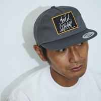 gold school logo twill cap