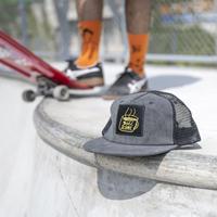 gold school coffee mesh cap