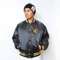 gold school satin jacket