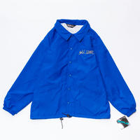 gold school sports master coach jacket royal