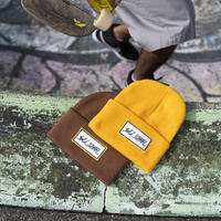 bar logo patch beanie