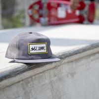 gold school bar logo mesh cap