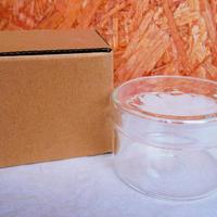 ■テラリウムガラス容器 蓋付カップ Lサイズ