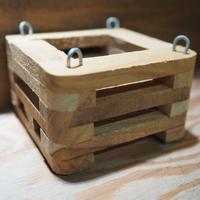 ■木製-木枠鉢(四角型) S-10×10㎝ ×1個