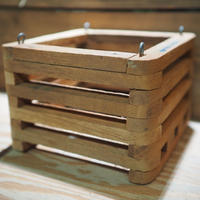 ■木製-木枠鉢(四角型) L-15×15㎝ ×2個 セット