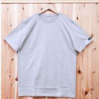 HOFI-004 ペルー超長綿 丸首天竺Tシャツ(メンズ)グレー