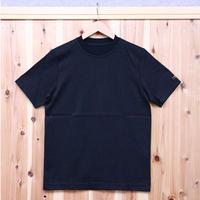 HOFI-001 コットンリネンインレー丸首Tシャツ (メンズ) ネイビー
