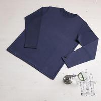 HOFI-011 インド超長綿 タック襟長袖Tシャツ (メンズ) インク
