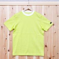 HOFI-001 コットンリネンインレー丸首Tシャツ (メンズ) イエロー
