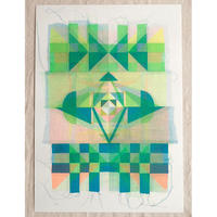 Kione Kochi - Quilt Print /Light-Teal