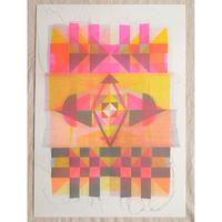 Kione Kochi - Quilt Print /Pink-Grey