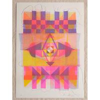 Kione Kochi - Quilt Print /Pink-Yellow