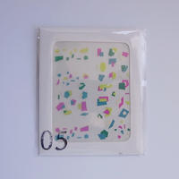 ネイルシール 05/色の群れ・ミドリ ピンク