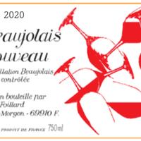 ボジョレー・ヌーヴォー2020/赤 /ジャン・フォワヤール / フランス /SO2 無添加