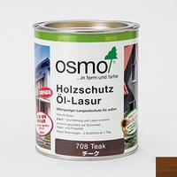 【オイル(塗料)/チーク色(濃いめ)】 オスモカラー♯708 ウッドステインプロテクターチーク色 0.75ℓ