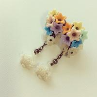 パステルフラワー・花かごピアス