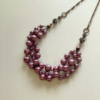 〖NECKLACE〗コットンパール3連ネックレス