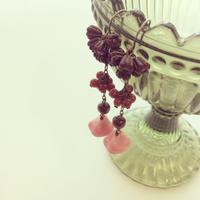〖PIERCE・EARRING〗イチゴチョコシリーズ ロングピアス