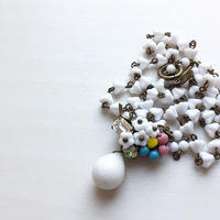 〖NECKLACE〗一点もの フラワーパワーパステルネックレス