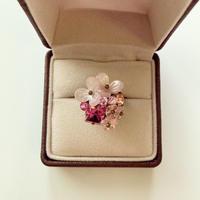 〖RING〗ピンクのお花のリング