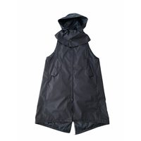 被覆 hooded sleeveless coat