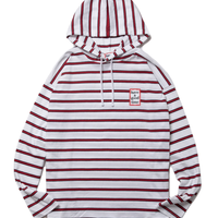 【have a good time】MINI FRAME HOODED STRIPE L/S TEE