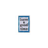 【have a good time】BLUE FRAME PIN