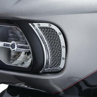 Mesh Headlight Vent Accents   Chrome 6518