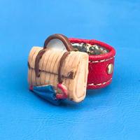 ★新作★Leather Ring (ボンボヤージュ)