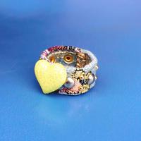 ★新作★ Leather Ring (ロマンチックハート)