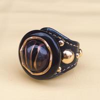 ★新作★ Leather Ring (ネイビーチェス)