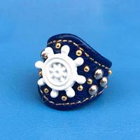 ★新作★ Leather Ring (ブルーウィール