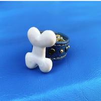 ★新作★ Leather Ring (ブラックボーン)