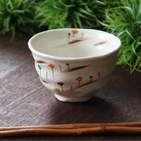 彩り花 ご飯茶碗