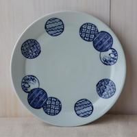 MINO藍手鞠 大皿