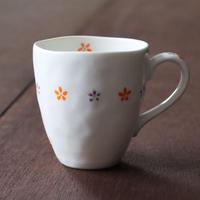 かわいい小花 和カフェU型マグカップ