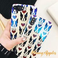 LOVE DOG ブルドッグ iPhoneケース ホワイト TPU