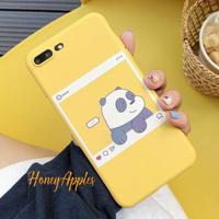 BARE BEARS [ パンダ ] iPhoneケース Yellow Instagram風 ソフトTPU 新機種対応