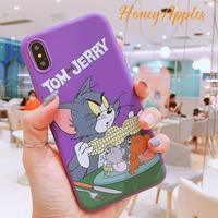 トムとジェリー iPhoneケース [ Purple ] Tom and Jerry TPU