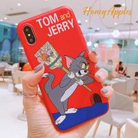トムとジェリー iPhoneケース [ Red ] Tom and Jerry TPU