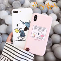 SNOOPY iPhoneケース [  White / Pink ]  TPU