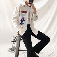 韓国メンズファッション★オーバービッグシャツ 4色